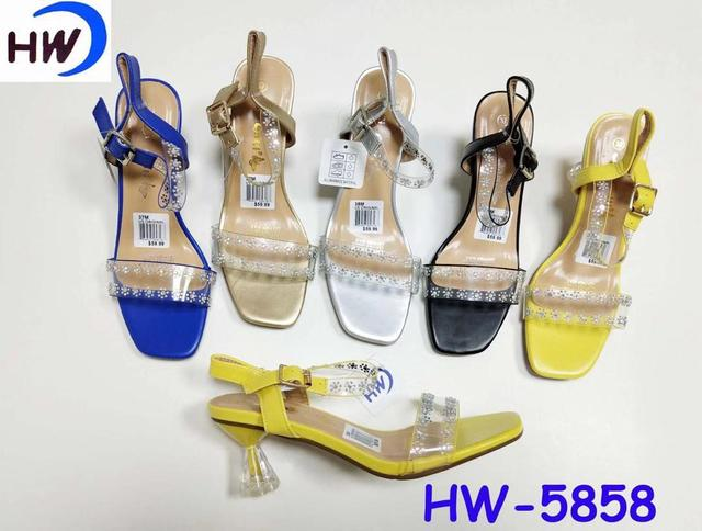 Women transparent flower designed sandals