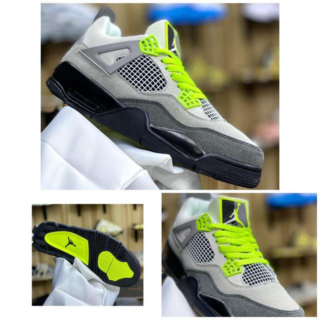 "Air Jordan 4 Retro ""NEON men sneakers"