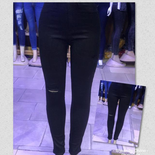 Rugged Black Stretch Smart Skinny High-waisted Jeans