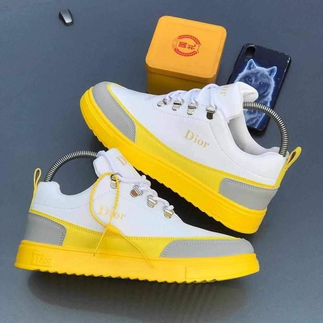 Christian Dior colorful yellow sneaker without box