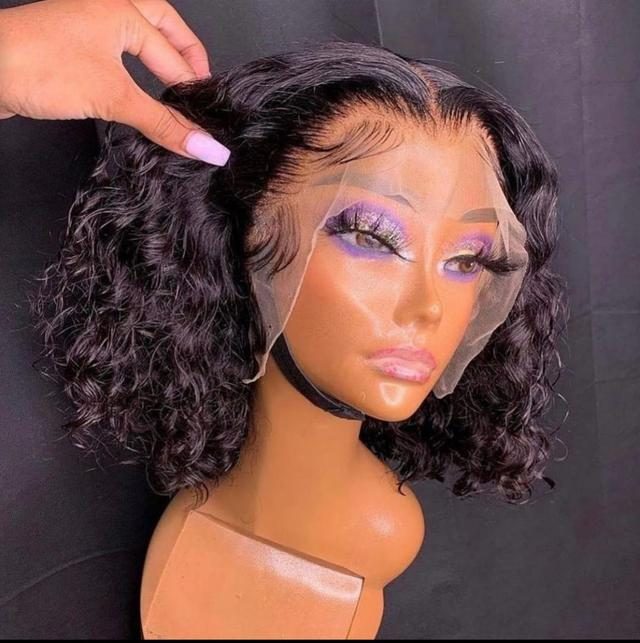 Frontals virgin hair curly wig