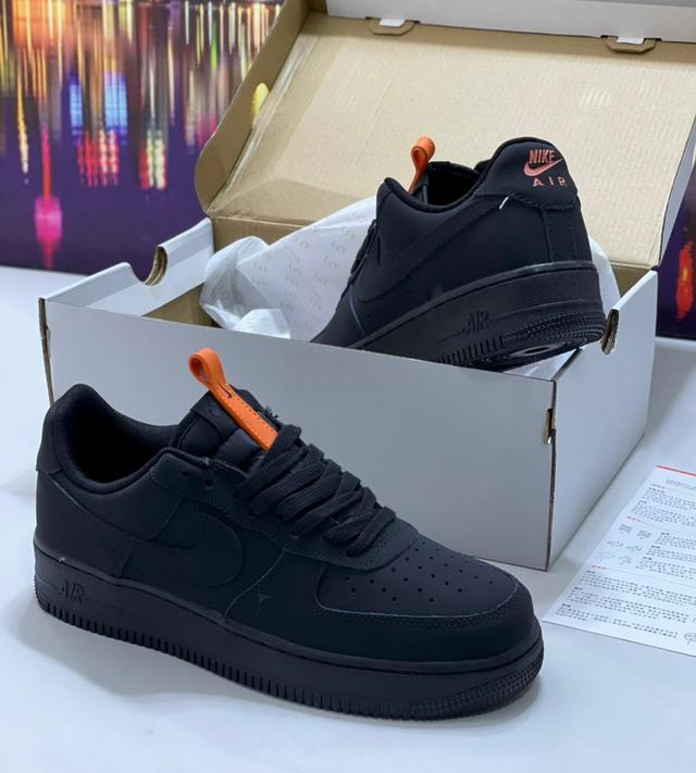 "Nike Airforce 1 ""SuedeBlack men sneakers"