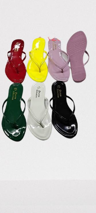 Colorful trendy women flat slippers- GREEN
